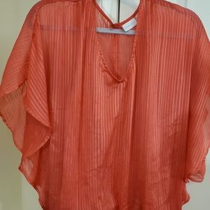 Dark peach colored shirt